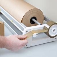 ribbon gift wrap Speedywrap Kraft paper dispenser 1020mm wide kraft